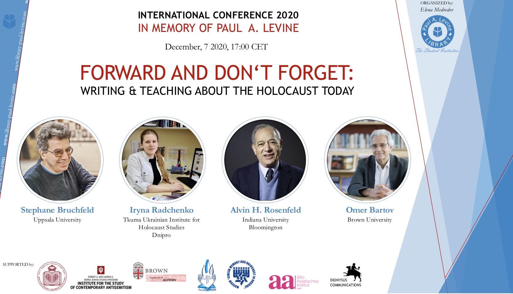 Запрошуємо на Міжнародну конференцію-вебінар «Пам'ятаючи минуле: написання наукових робіт та викладання історії Голокосту в наші дні»